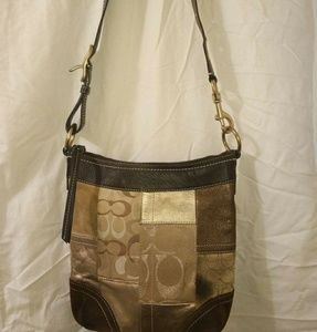 Coach patch work purse